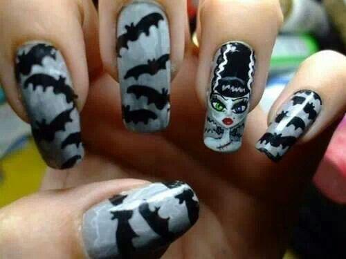 Bride of frankenstein nails - Bride Of Frankenstein Nails Pin Up Pins Pinterest