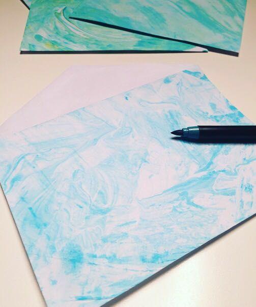 Briefumschlag l Freude l Colour l fārben l blau l diy l noordwind