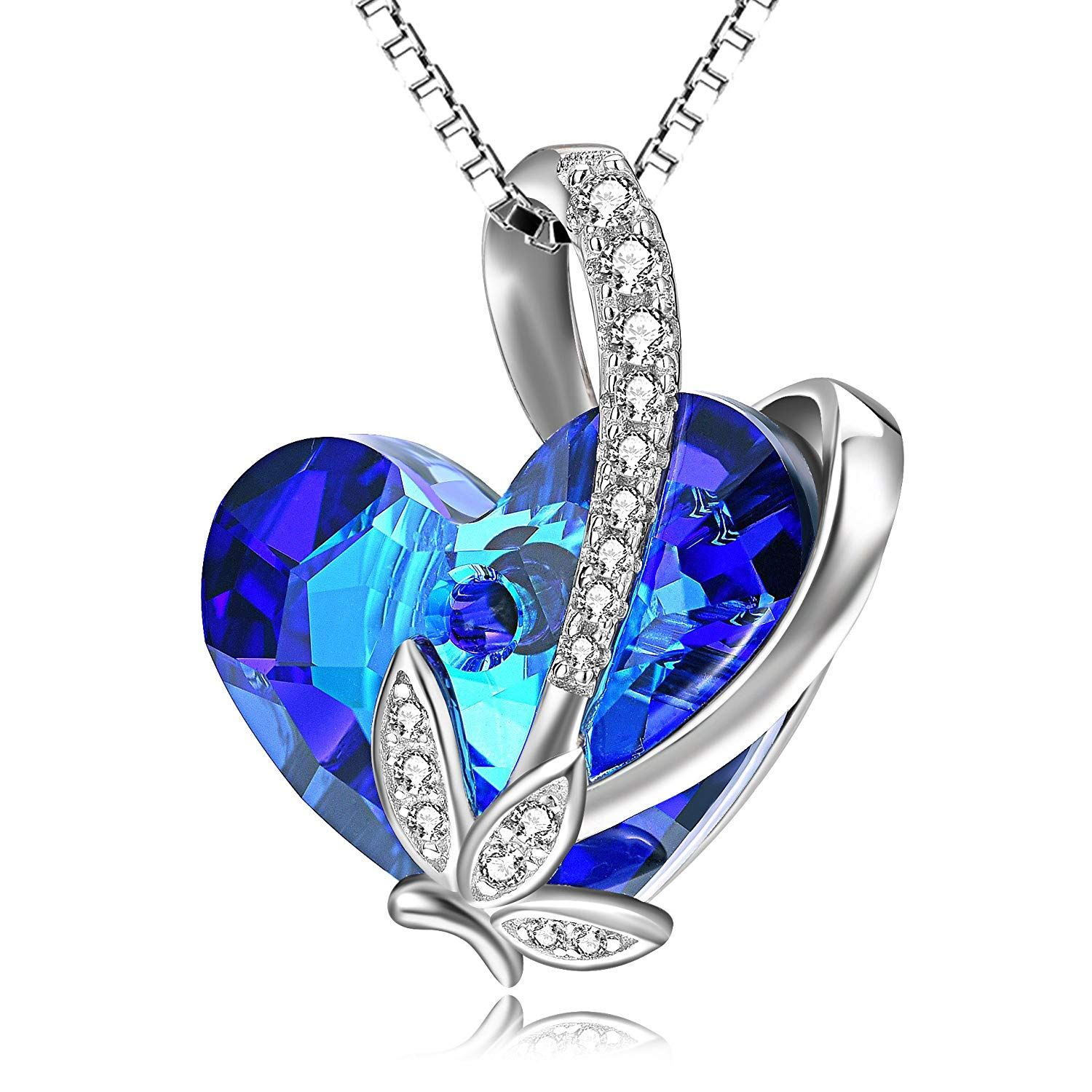 BUTTERFLY HEART NECKLACE BIRTHDAY GIFTS FOR WIFE GIRLFRIEND WOMEN MOM