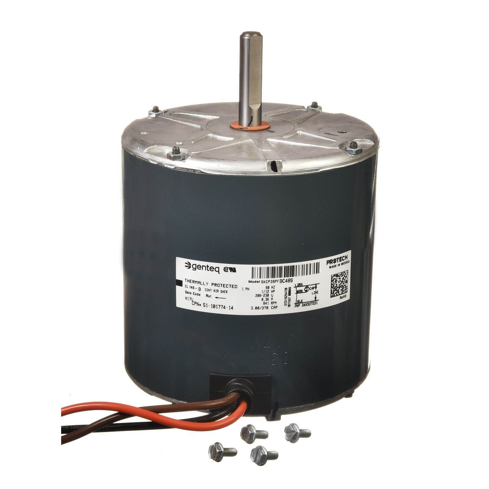 Protech 51 101774 14 Condenser Motor 1 12 Hp 208 230 1 60 825 Rpm 1 Speed Diy Parts In 2020 Speed Motor Condensation