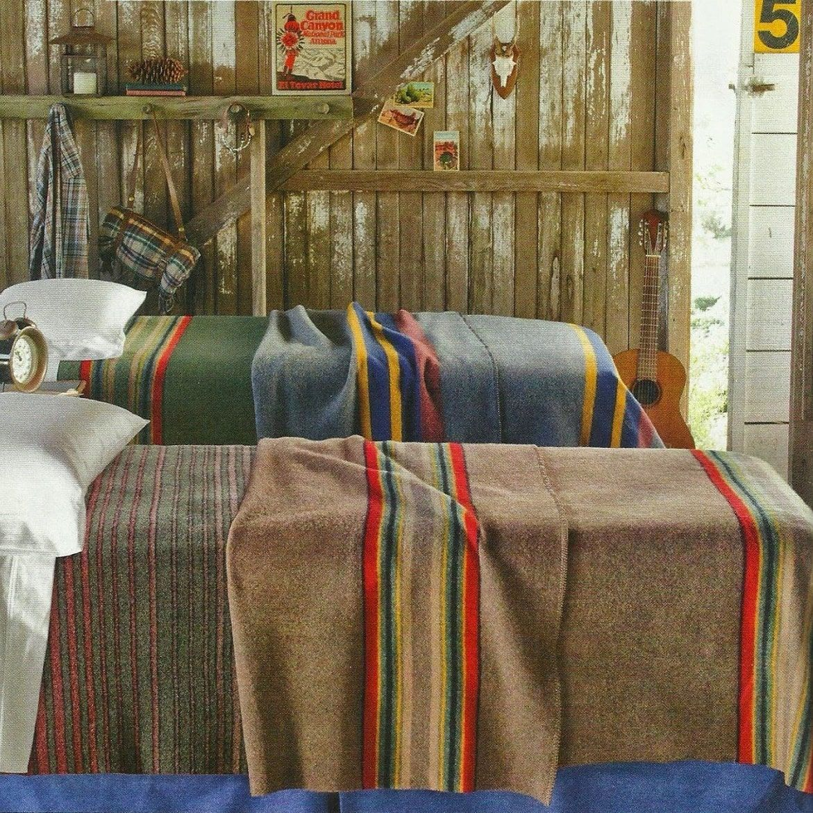 Pendleton Yakima Camp Lake Wool Blanket (With Images