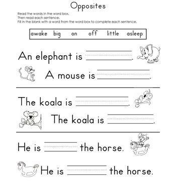 17 Best images about opposites on Pinterest | Kindergarten ...