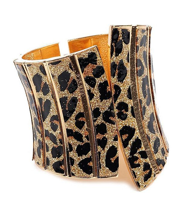 Take a look at this Gold Leopard Cuff on zulily today!