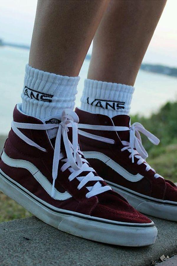 Vans Sk8 Hi | Vans UK Official Store | Socks outfit, Schuhe