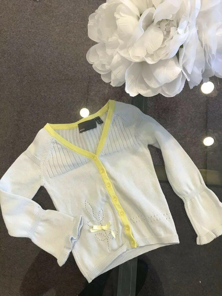 eec67fe8eb0f Mexx Baby Girl s Designer Light Blue Cardigan Sweater size 2 2T Orig ...