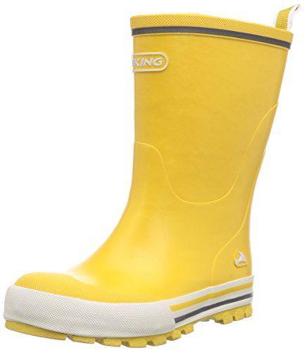 Viking Jolly, Unisex-Kinder Langschaft Gummistiefel, Gelb (Yellow 13), 30 EU