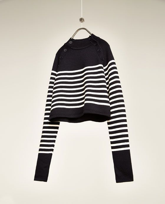 Image 3 of CROPPED STRIPED SWEATER from Zara | clothes | Pinterest ...