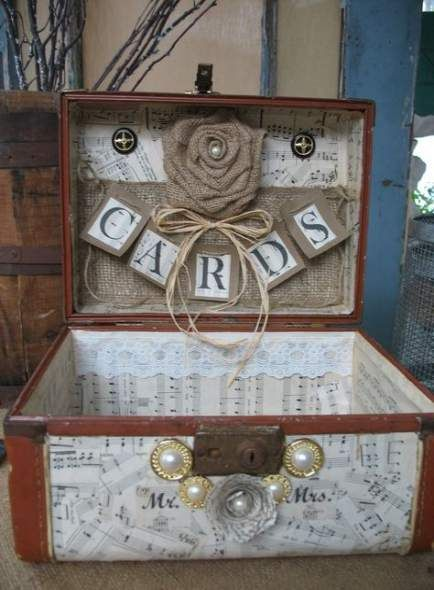 49 ideas wedding card flower vintage suitcases  rustic