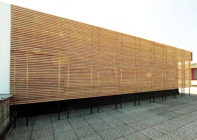 lamellen constructie - Google zoeken Project sterrenkijker - fachada madera