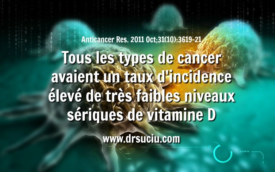 La carence en vitamine D est courante en cas de cancer