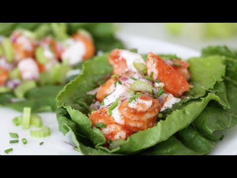 Low-Carb Buffalo Shrimp Lettuce Wraps - Skinnytaste