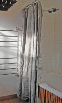 I Like The Look Of Unironed Linen Natural Shower Curtain