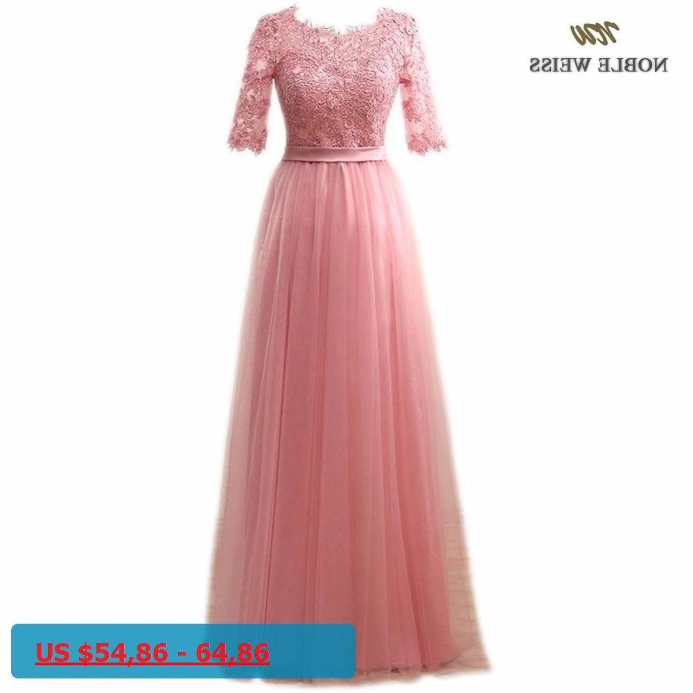 NOBLE WEISS Elegant Hot Sale Floor-Length Appliques Evening Dress ...