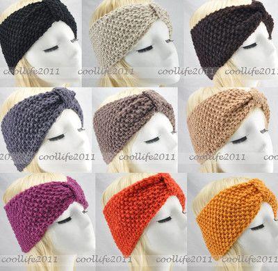 Winter women Knit Hairband Crochet warmer Head wrap Headband Ear ...