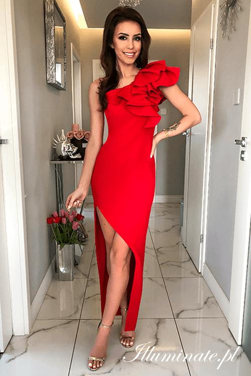 Ashley Czerwona Sukienka Na Wesele Formal Dresses Gowns Red Cocktail Dress Cocktail Dress Wedding