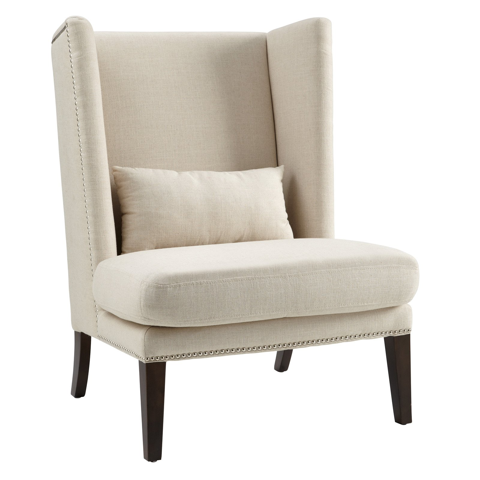 Sunpan Malibu Linen Wingback Chair Linen wingback chair