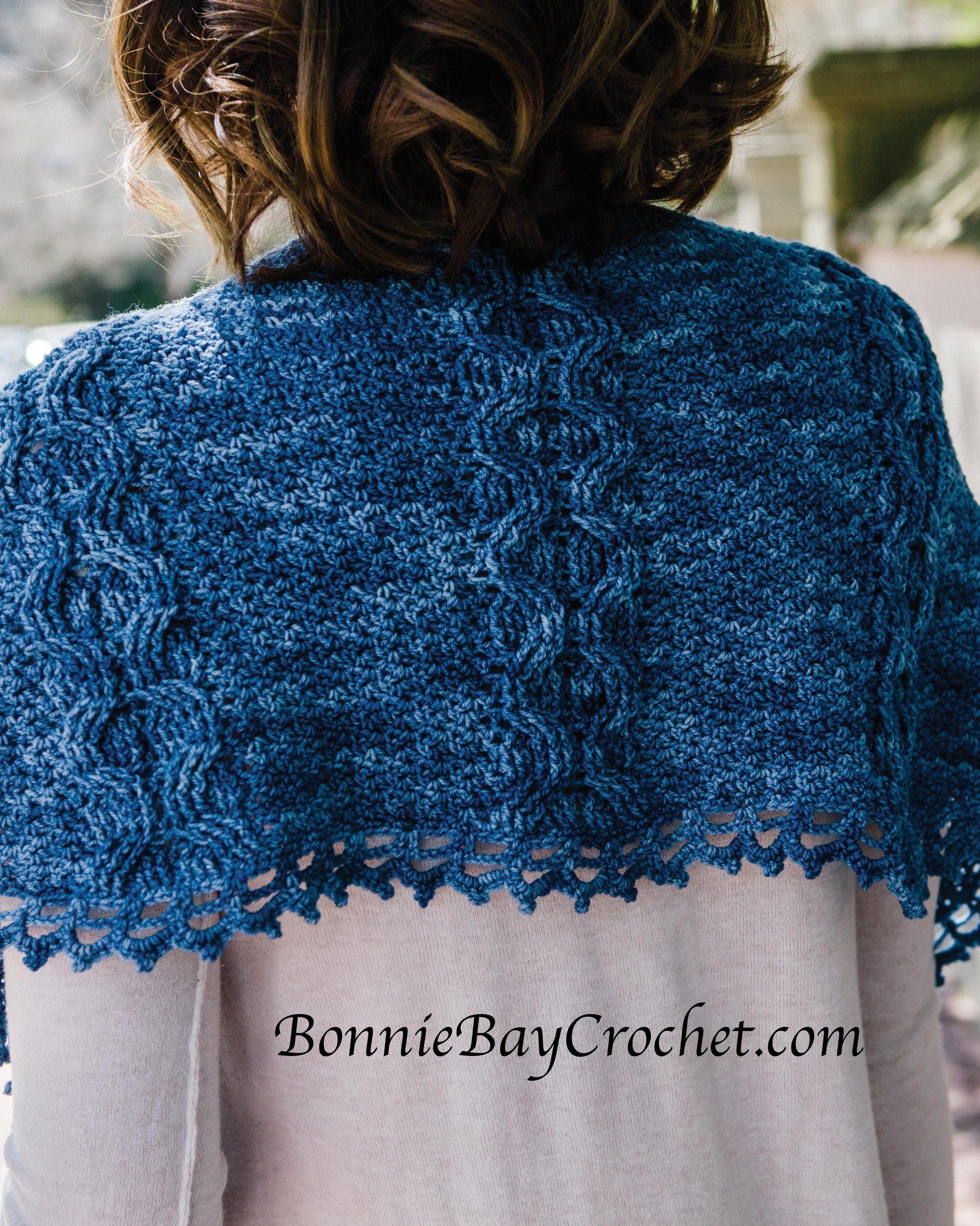 Blue moon shawl by bonnie barker celtic cable crochet httpswww blue moon shawl pattern by bonnie barker malabrigo sock in impressionist sky published in celtic cable crochet 18 crochet patterns for modern cabled bankloansurffo Image collections