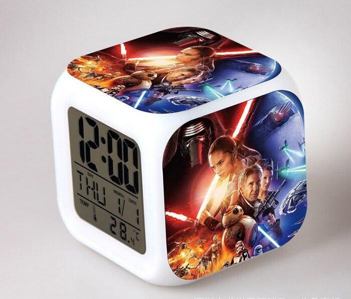 Star Wars: The Force Awakens LED 7 Color Flash Digital Alarm Clocks Night  Light Bedroom