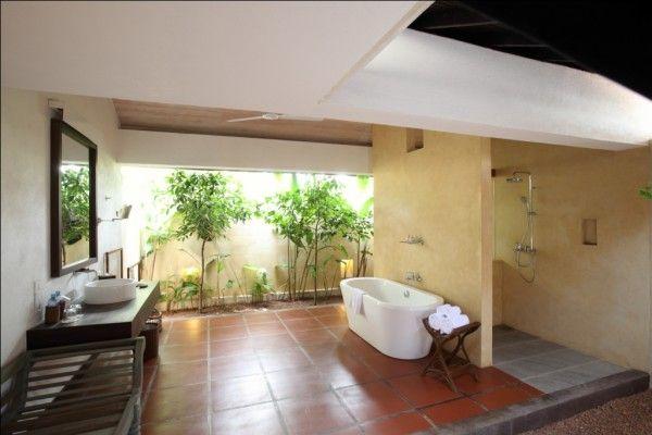 sri lanka jetwing vil uyana salle de bain ciel ouvert Hotels