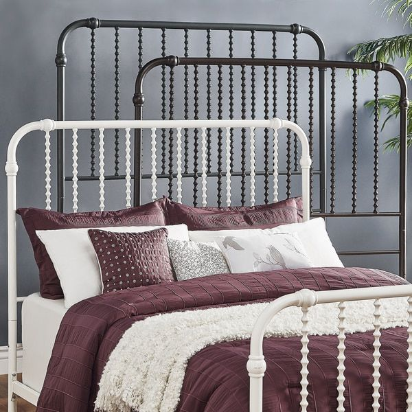 This stunning Victorian inspired iron bed is the perfect piece to transform your bedroom into a vintage sanctuary The unique spiral design on the headboard