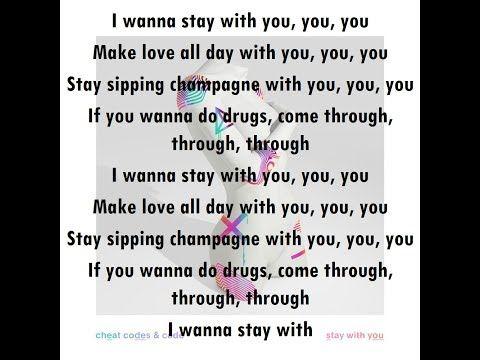 <b>Cheat Codes</b> and CADE - Stay With You [<b>Lyrics</b> Video Version ...