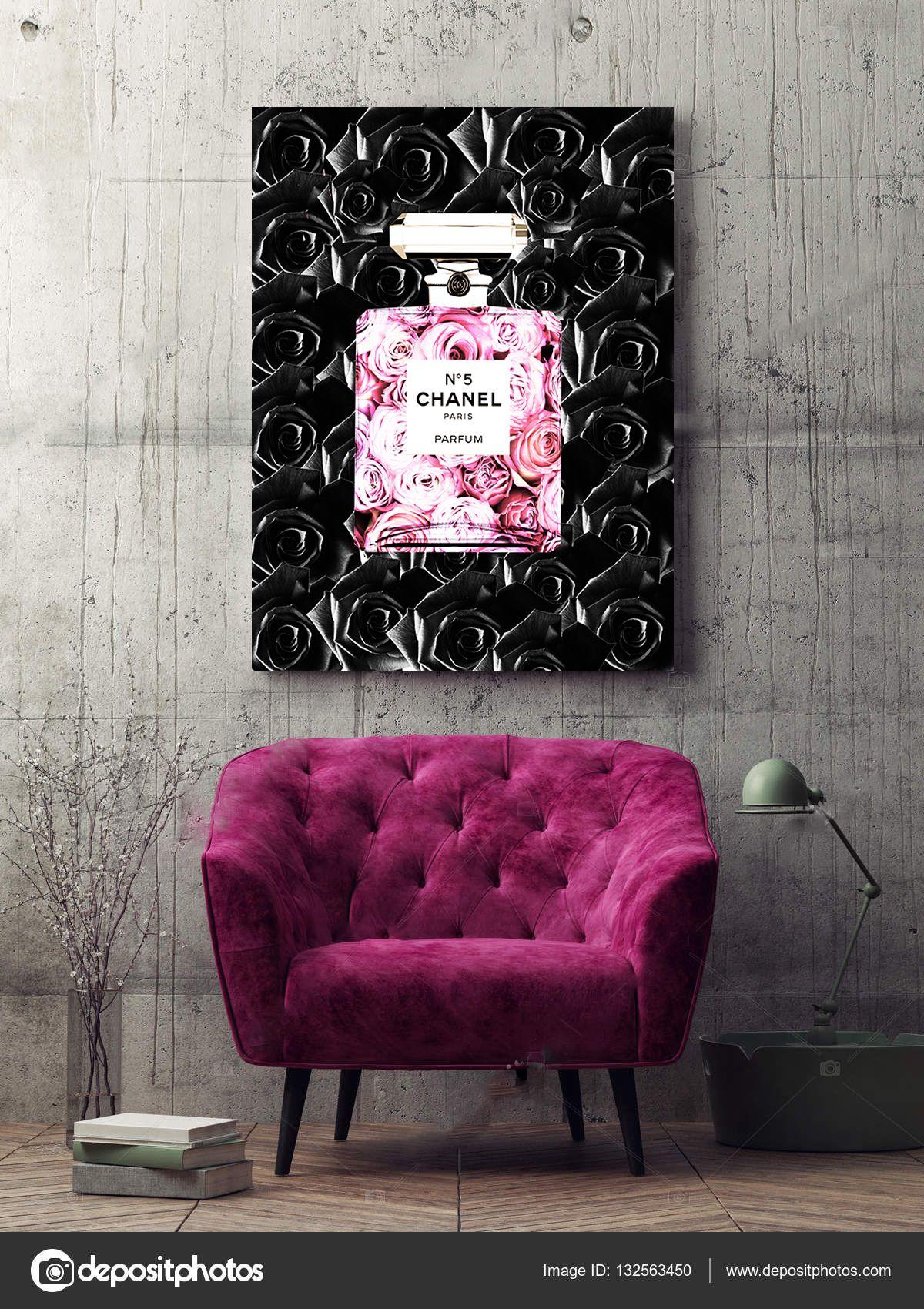 9709011377cf7 Canvas Wall Art Chanel Canvas Chanel Parfum Fashion Canvas Wall Art ...