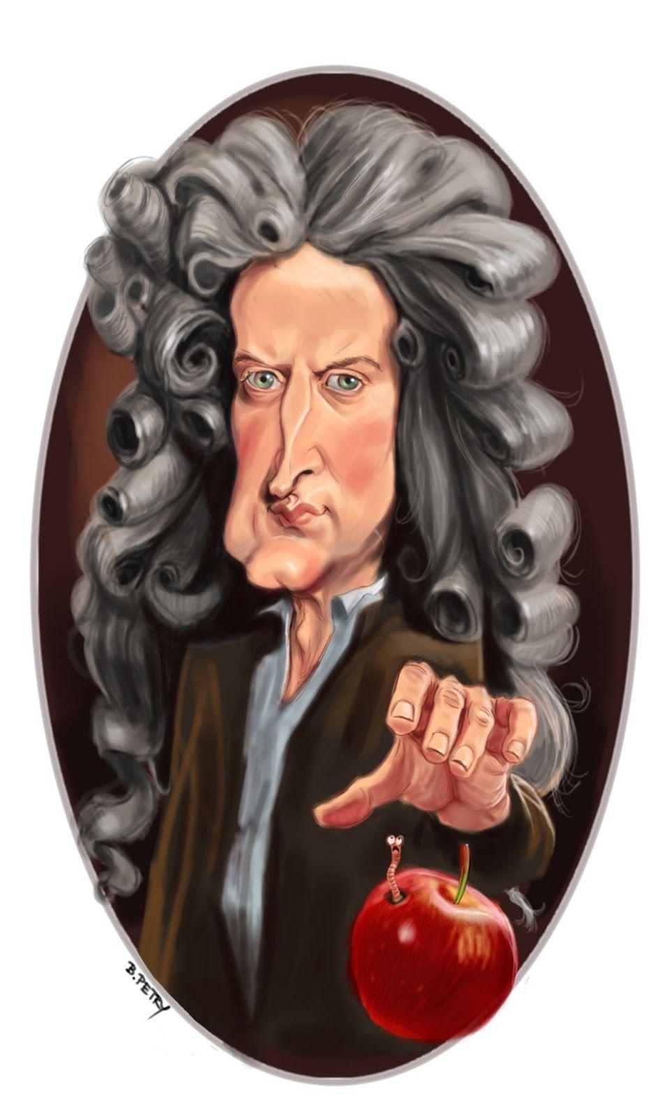 Isaac Newton Caricatura Pesquisa Google Drawings Paintings