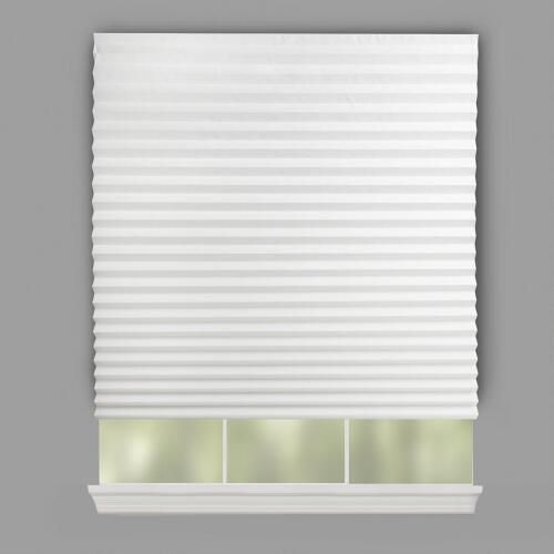 One Of My Favorite Discoveries At Christmastreeshops Com White Peel And Stick Pleated Paper Window Shades 4 Pack Window Shades Paper Blinds Blinds