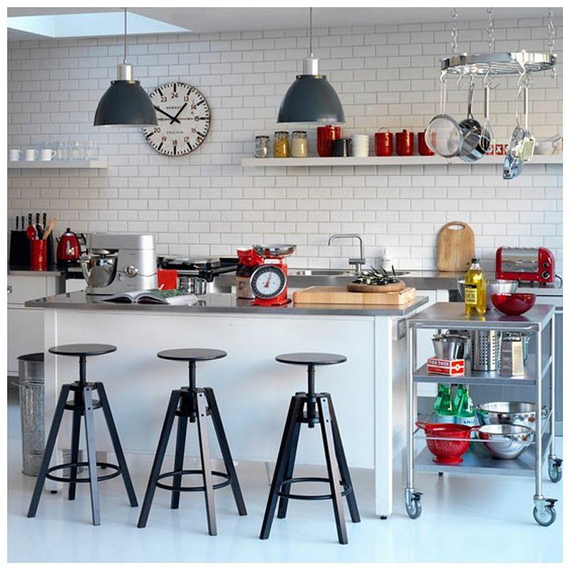 Modern Retro Kitchen For Stylish Area Accessories