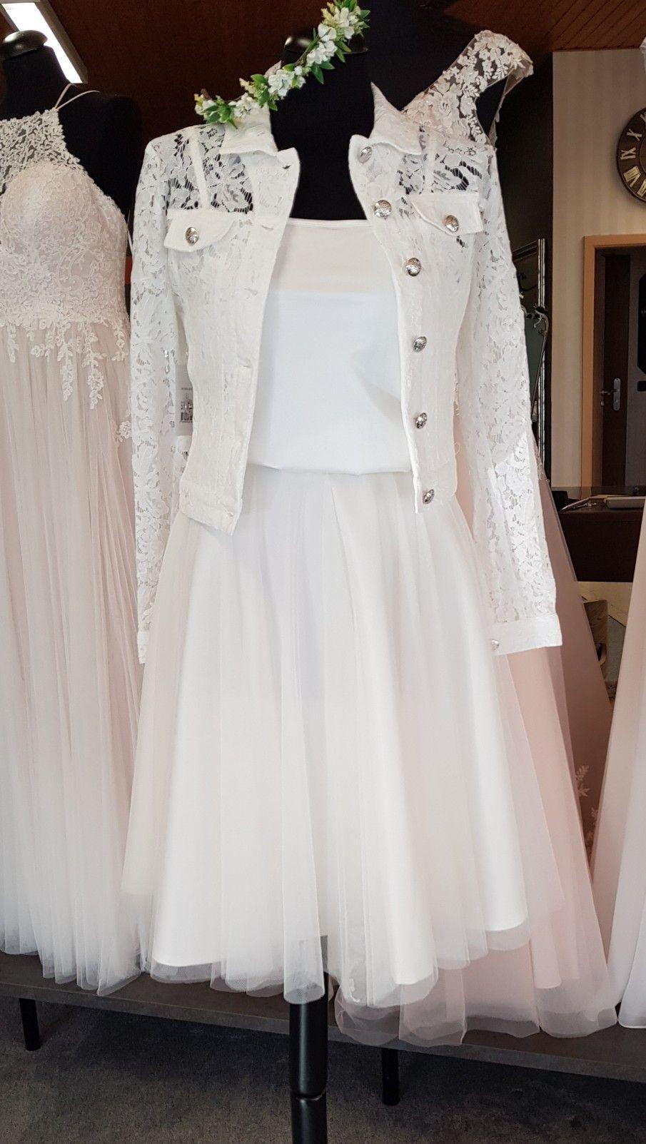 Vestido corto de novia vintage boho Fulda Bridal Studio Monique