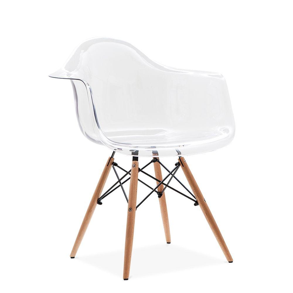 Beautiful Charles Eames Style Transparent DAW Chair