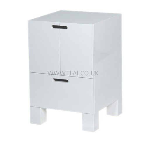 White High Gloss Bedside Table Small Small Bedside Table High Gloss Furniture Bedside Table