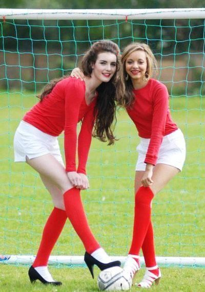 Jade Thirlwall ( playing football with heels on)