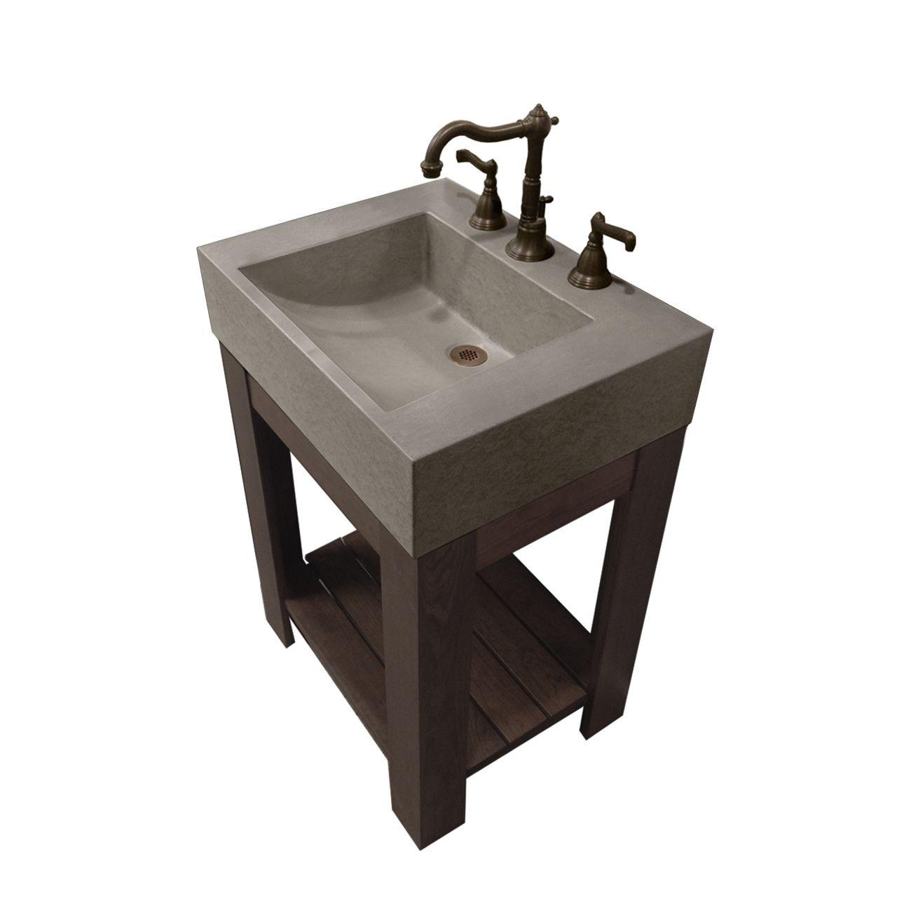 cado concrete bathroom vanity sink - trueform concrete | bathroom