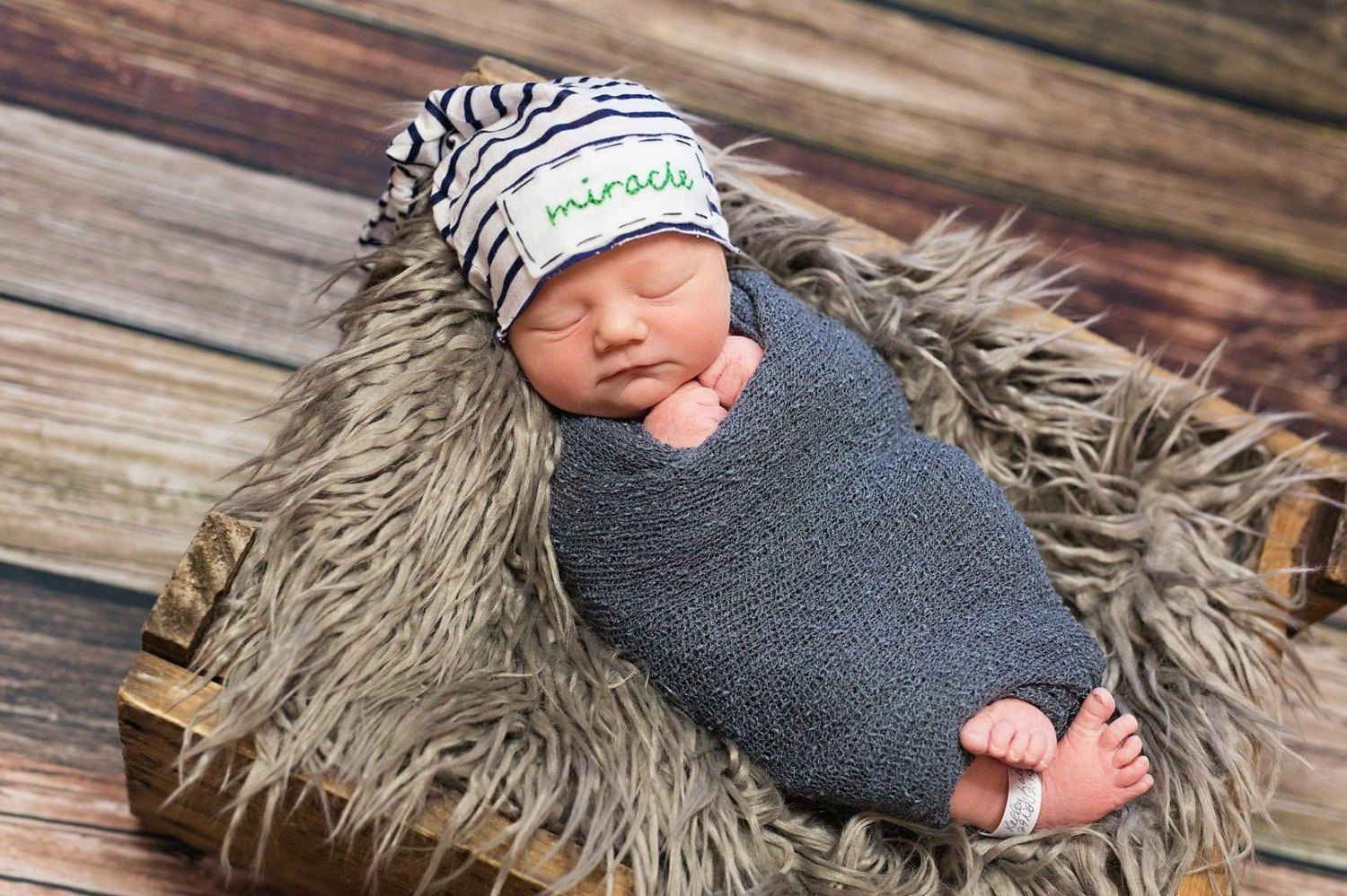 Personalized newborn hat -hand stitched name - personalize baby gift ... 144dff205c3