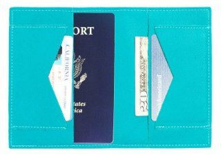 Really want this!!! Leather Passport Wallet, Turquoise