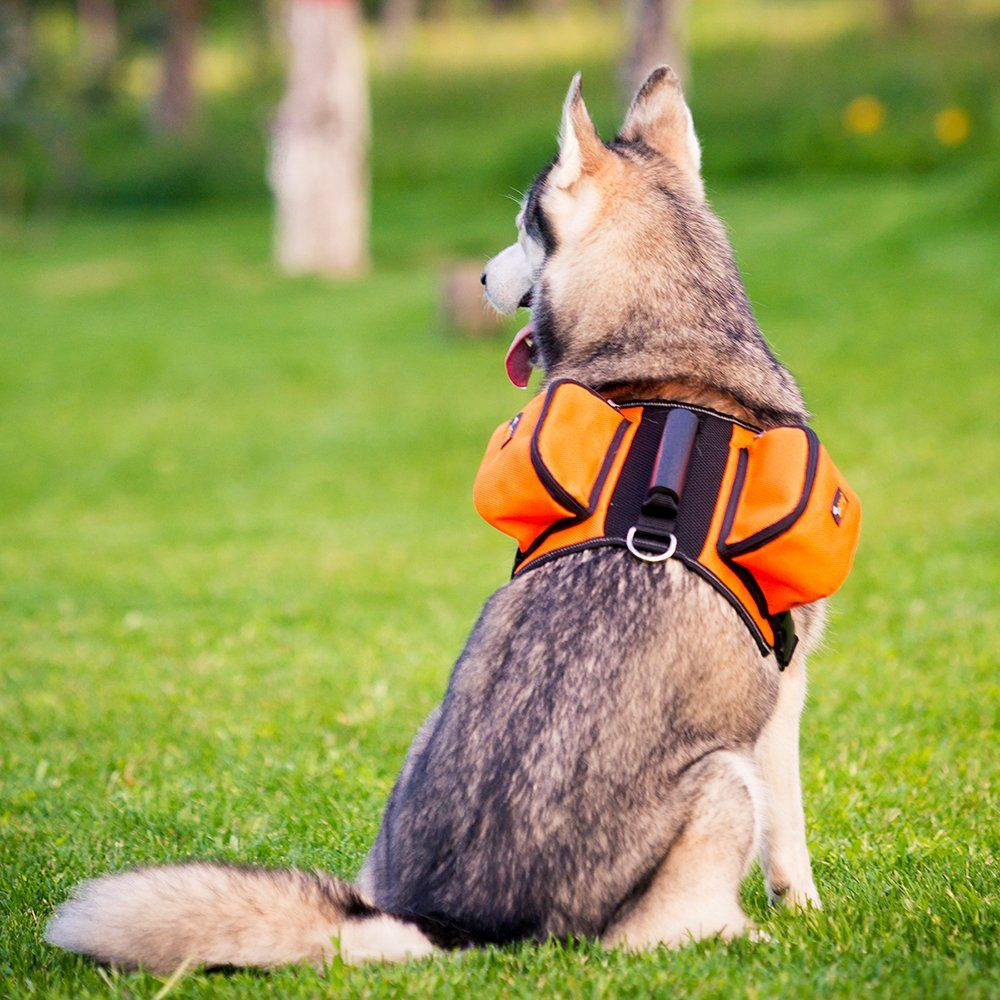 Dog Carried Backpack Hiking Travel Camping Outdoor Harness