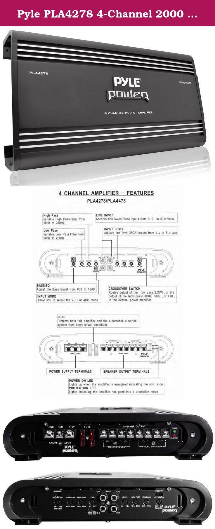 73 2 Channel 2000 Watt Bridgeable Mosfet Amplifier Sound Storm 000watt 24volt Truck Bus Rv Pyle Pla4278 4 When Power Isnt