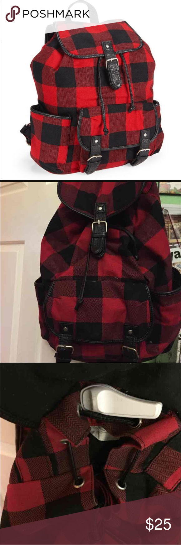 Red plaid backpack Only flaw is the lady left the thing on it but the fall covers it so it's not noticeable. BRAND NEW Aeropostale Bags Backpacks