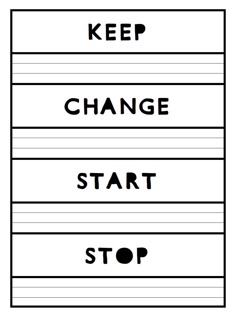 worksheet Start Stop Continue Worksheet math love keep change start stop aka new school year year
