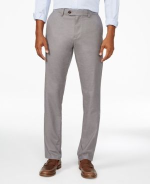 Tommy Hilfiger Men's Clyde Tailored-Fit Pants - Gray 31x32