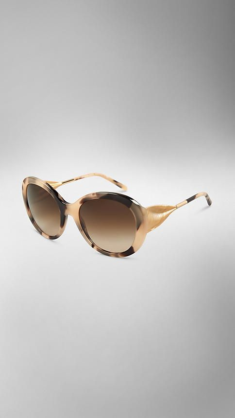 c2d28c93ab2b Burberry Oversize Round Frame Sunglasses from The Gabardine Collection -Oversize  round frame acetate sunglasses.