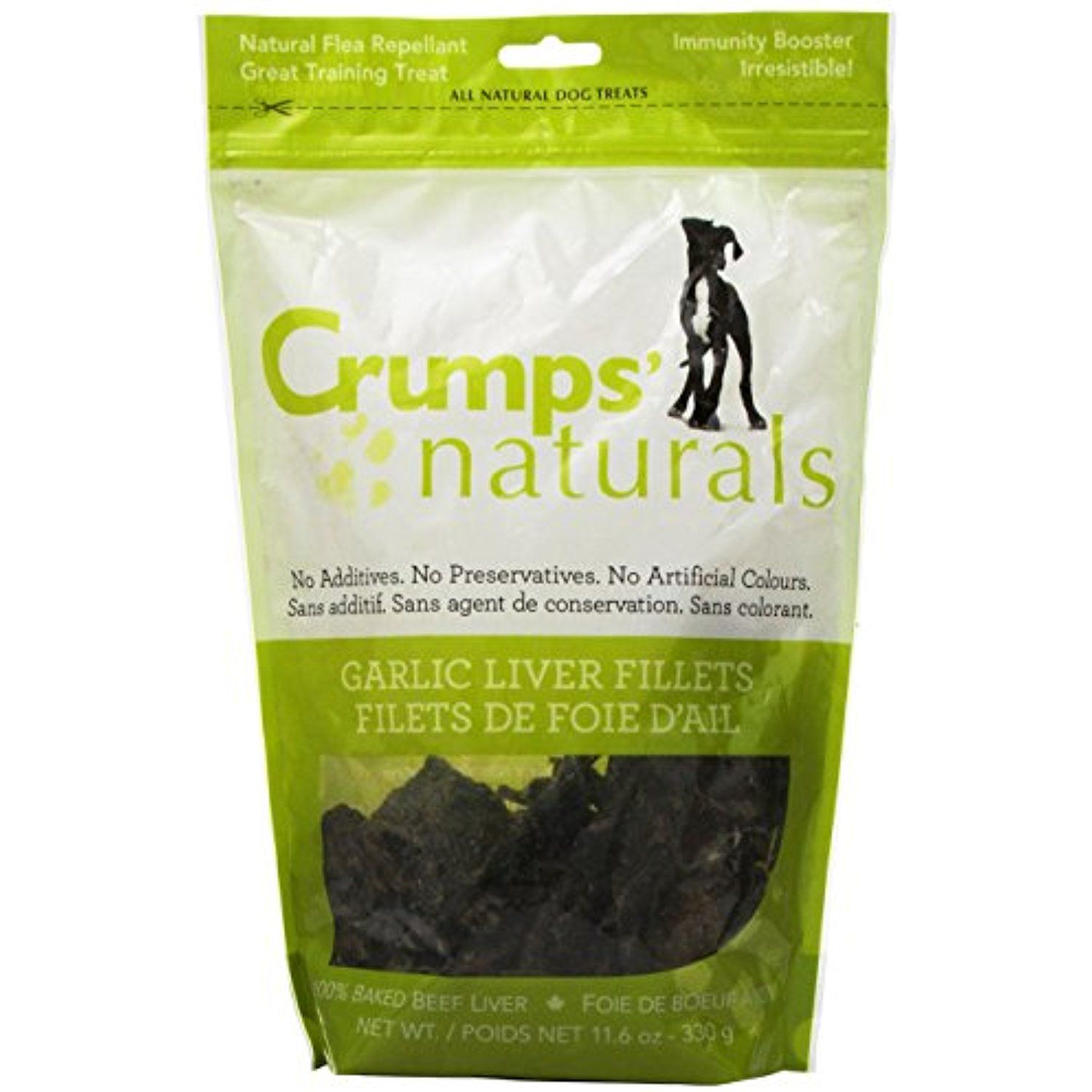 Crumps naturals traditional liver fillets with a hint of