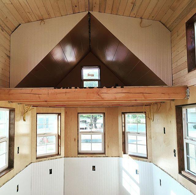 Windows?  Check.  Character?  Check.  Finished?  Nope!  #tinyhome #tinyhouse #tinyhouseliving #tinyhousemovement #tinyhousenation #tinyhouseonwheels #tinyhomes #tinyhouses #interior #interiordesign #interiorstyling #interiorstyle #ecofriendly #eco #cabin #cabinlife #studio #studiolife #parlor