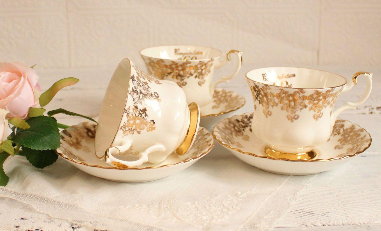 50 anniversary congratulations royal albert pedestal tea