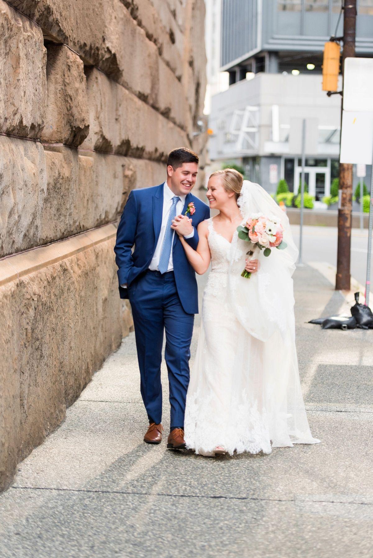 Wedding dresses pittsburgh  Fresh Navy u Peach Wedding at the History Center Laura u Tommy