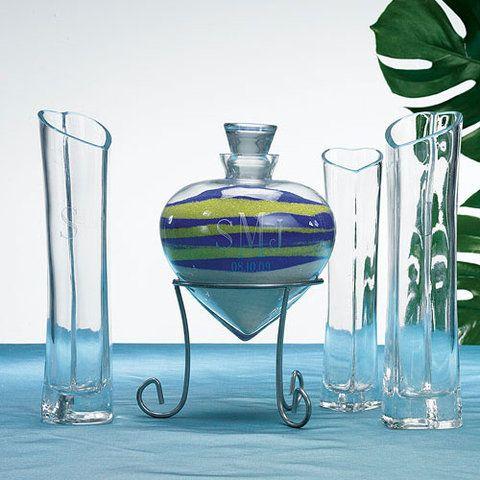 Sandzeremonie Herzflasche Und Vasen Personalisiert Sandzeremonie