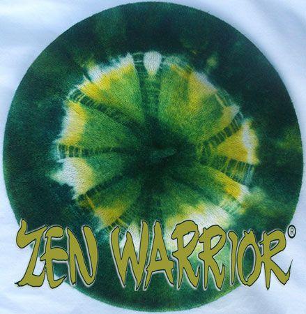 Green & Yellow #Packers Hand-Dyed Zen Warrior Beret made in Wisconsin by Tracy Lea Landis http://www.zenwarrior.com