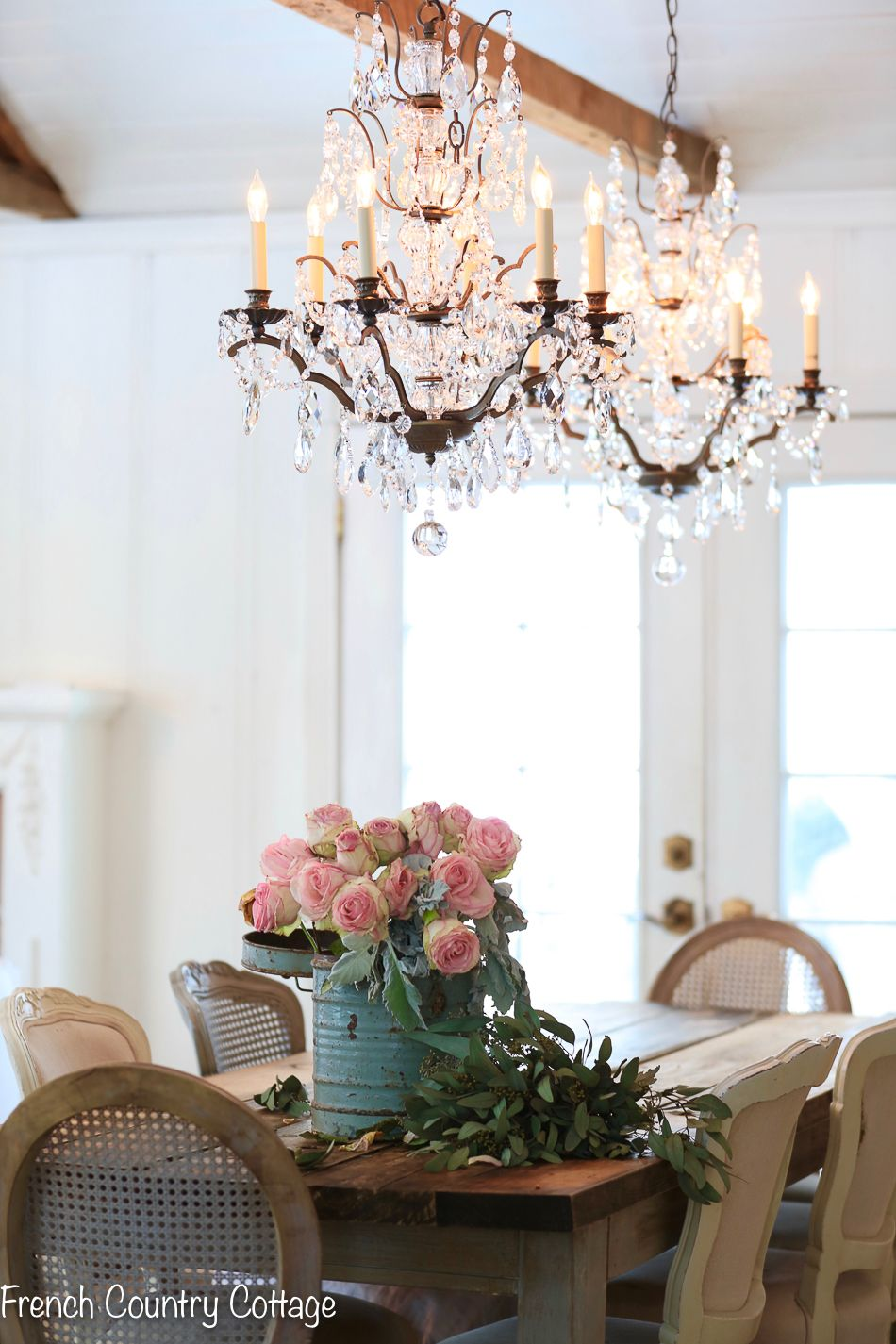 How A Simple Change Can Bring Fresh Look French Country Cottage Making Small Changes In Your Dining Room And Home Make Whole New