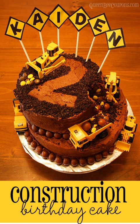 Construction Cake Diy Ideas Fiestas Benjo Cumple De 2 Anos